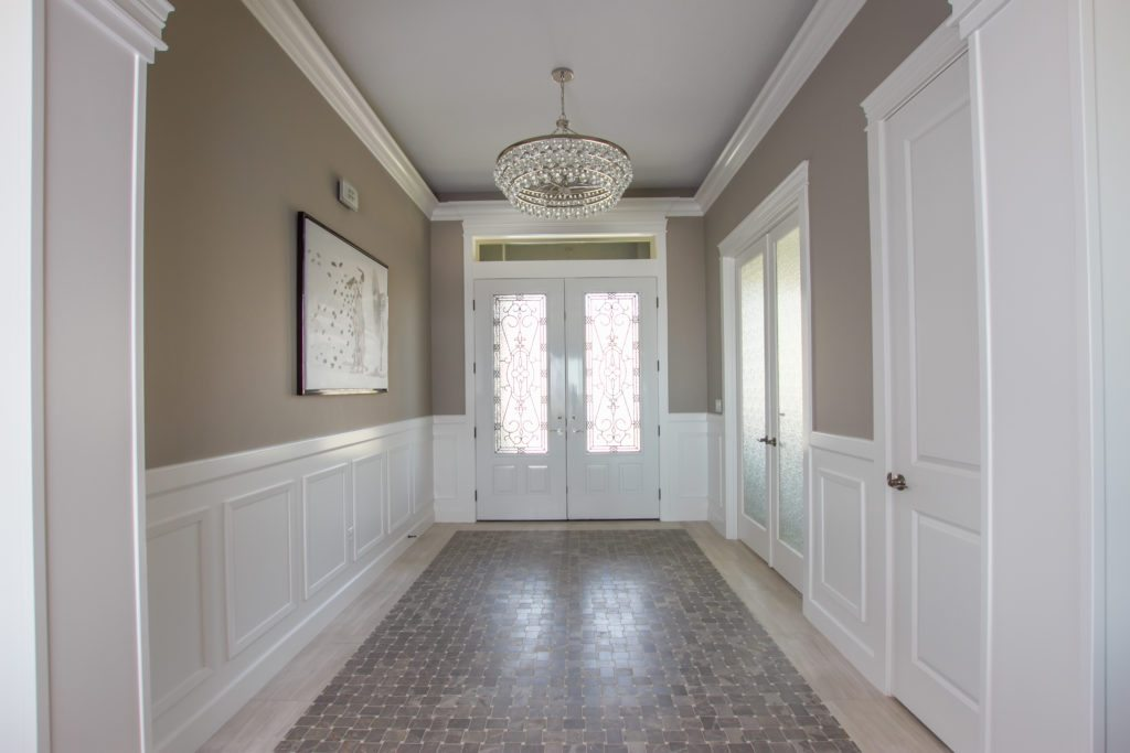 Beethoven entryway from Prodigy Homes. 2014 Parade of Homes Tri-Cities Washington.