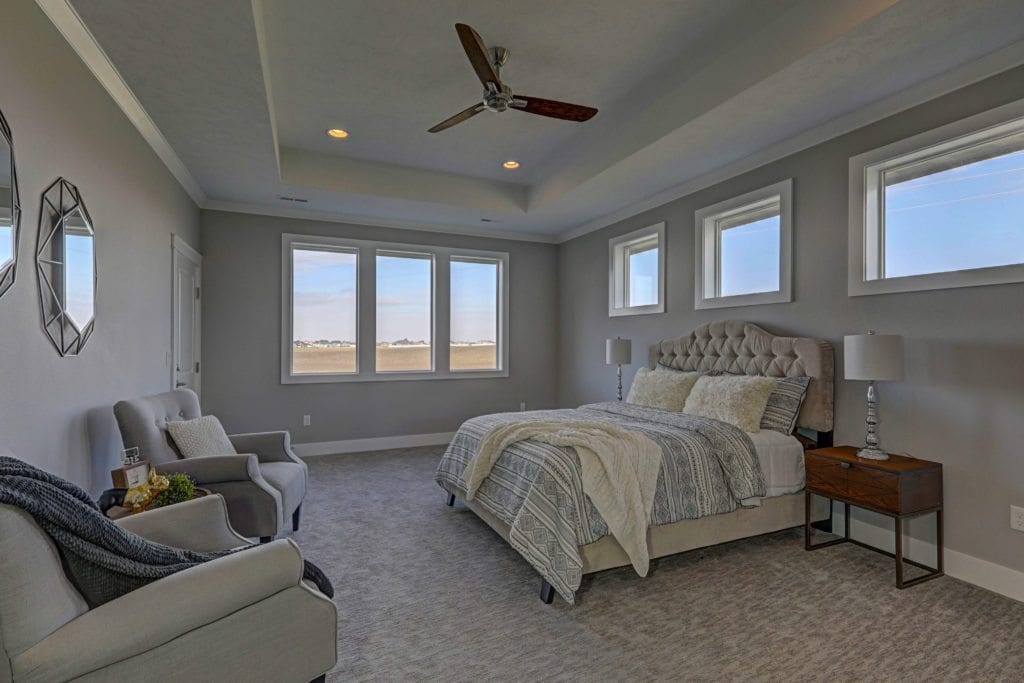 Color trends. Warm, cozy master bedroom. Encore home built in Archer Estates neighborhood in Pasco, Washington. Prodigy Homes, Inc. is building new homes in Kennewick, Richland, West Richland and Pasco, Washington.
