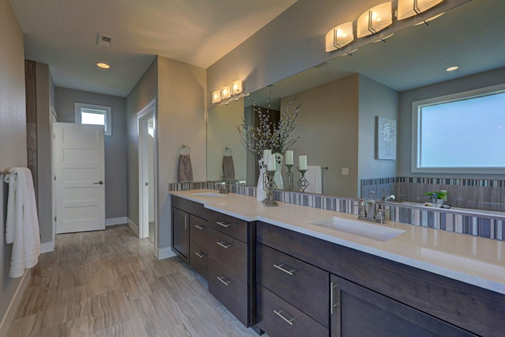 Master bathroom of Prodigy's model home in Pasco.