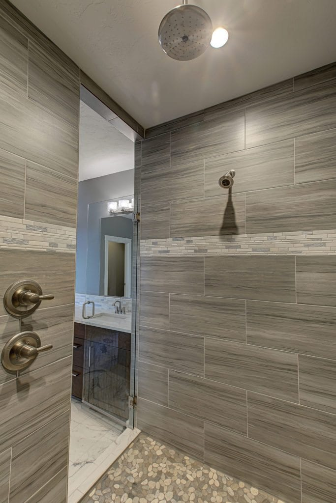 This is the same look with more grey tones in the tile.