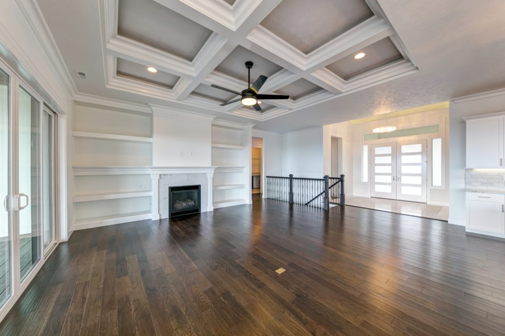 Ceiling trends. White room with box beam ceiling. Viola home built in Canyon Lakes neighborhood in Kennewick, Washington. Prodigy Homes, Inc. is building new homes in Kennewick, Richland, West Richland and Pasco, Washington.