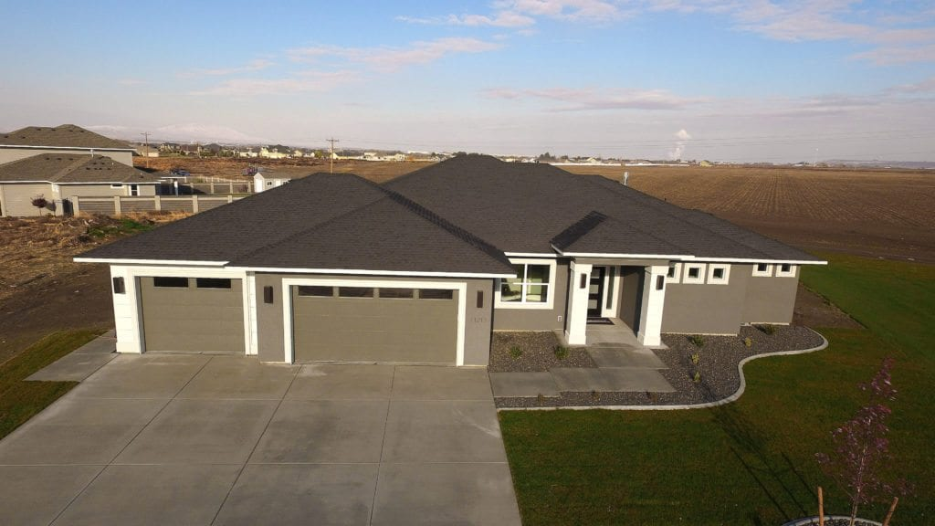 Spring maintenance tip: check your roof for damage. Encore home in Archer Estates neighborhood in Pasco, Washington. Prodigy Homes, inc. is building new construction homes in the Tri-Cities, Washington.
