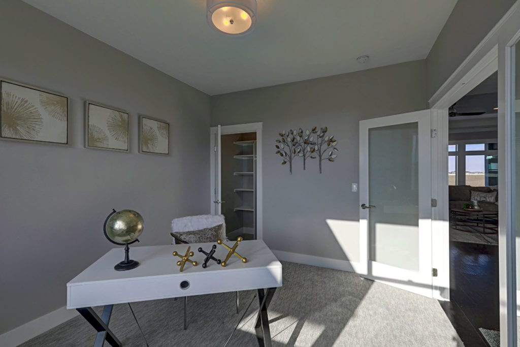 Home office in a house built from our Encore floorplan in Pasco, Washington. Prodigy Homes, Inc. is building new construction homes in Kennewick, Richland, West Richland, and Pasco, Washington.